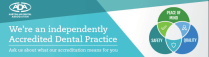 Castlemaine Smiles Dentist | ADA Practice Dental Accreditation Banner | Dentist Castlemaine